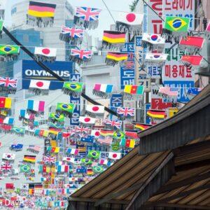 Flags at the Korean Market