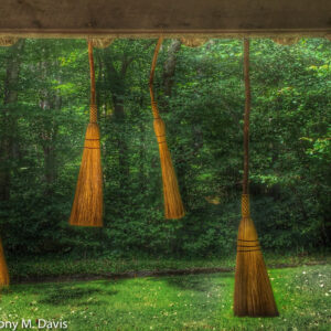 Four Handmade Brooms