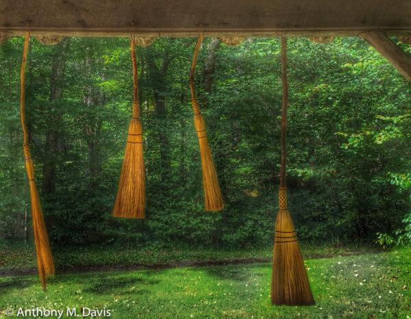 Four Handmade Brooms