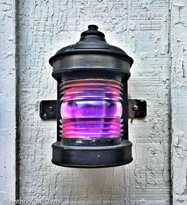 Lamp with a Purple Lense