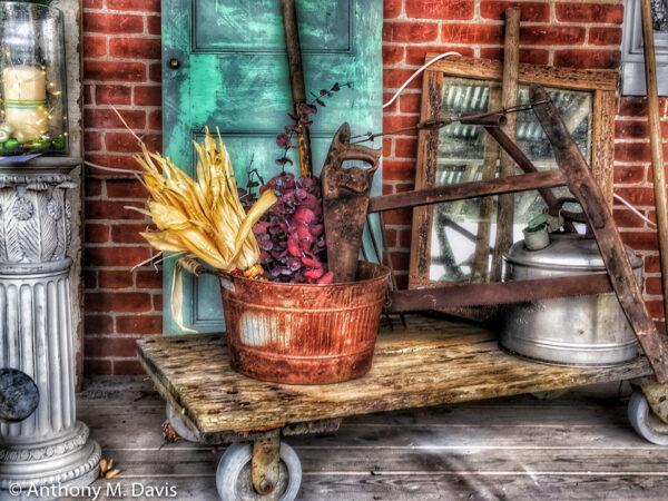Outside the Antique Shop